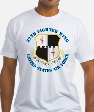 52nd Fighter Wing with Text Shirt