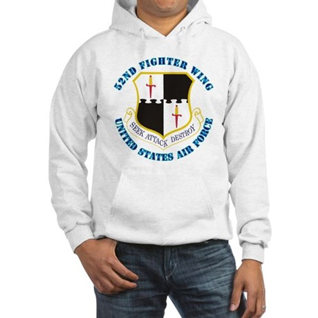52nd Fighter Wing with Text Hooded Sweatshirt
