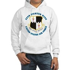 52nd Fighter Wing with Text Hoodie
