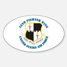 52nd Fighter Wing with Text Decal