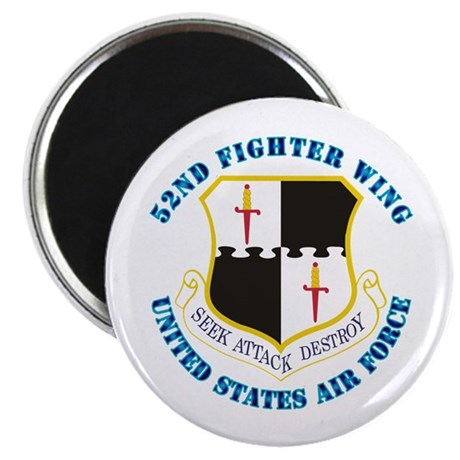 """52nd Fighter Wing with Text 2.25"""" Magnet (10 pack)"""