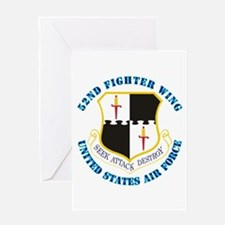 52nd Fighter Wing with Text Greeting Card