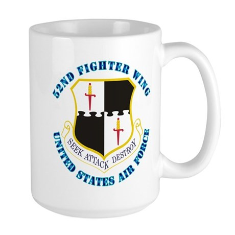 52nd Fighter Wing with Text Large Mug