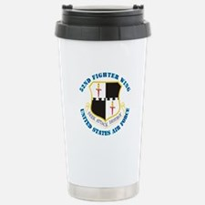 52nd Fighter Wing with Text Travel Mug