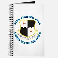 52nd Fighter Wing with Text Journal