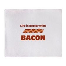 Life Is Better With Bacon Throw Blanket