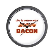 Life Is Better With Bacon Wall Clock