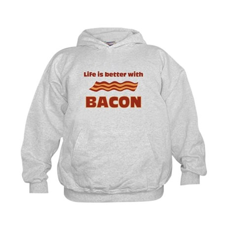 Life Is Better With Bacon Kids Hoodie