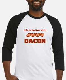 Life Is Better With Bacon Baseball Jersey