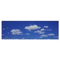 Low Angle View Of Clouds In The Sky Poster