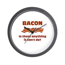Bacon, Is There Anything It C Wall Clock