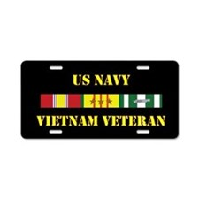 Navy Vietnam Vet 3 Star Aluminum License Plate
