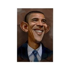 Obama Caricature Rectangle Magnet