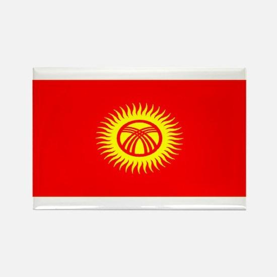 Kyrgyzstan Kyrgyz Blank Flag Rectangle Magnet