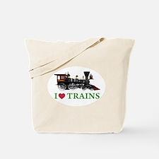 I LOVE TRAINS Tote Bag