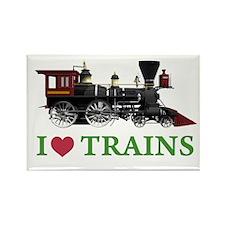 I LOVE TRAINS Rectangle Magnet (100 pack)