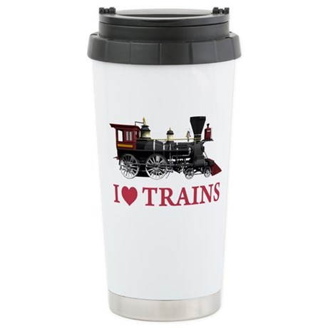 I LOVE TRAINS Stainless Steel Travel Mug