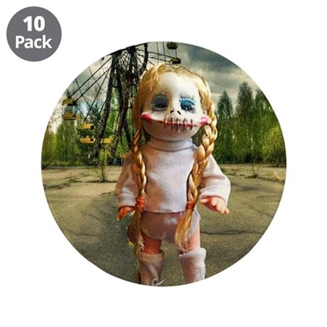 "Creepy Mary at the Fair 3.5"" Button (10 pack)"