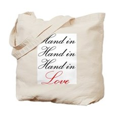 hand in hand in hand in love Tote Bag