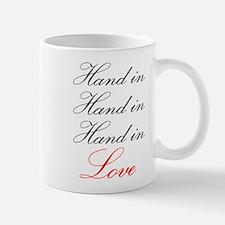hand in hand in hand in love Mug