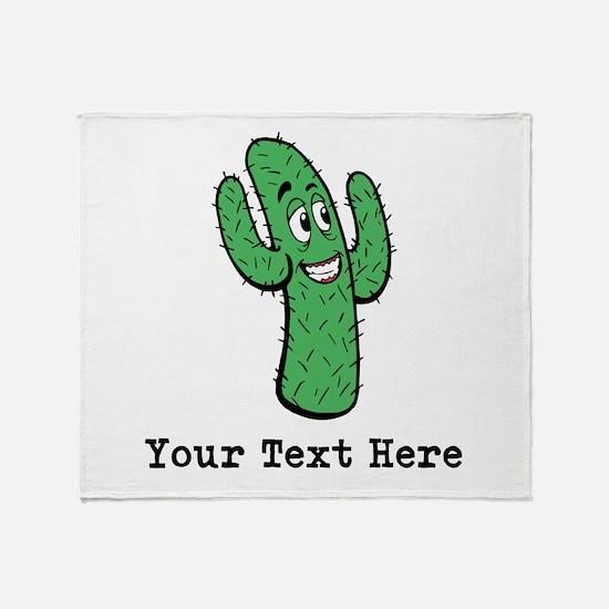 Desert Cacti. Custom Text. Throw Blanket
