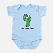 Desert Cacti. Custom Text. Infant Bodysuit