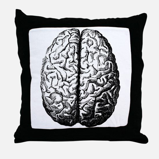 Brain II Throw Pillow