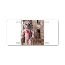 Scary Nigel doll Aluminum License Plate