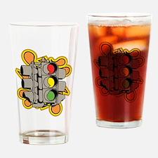 Traffic Light. Drinking Glass