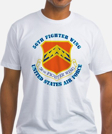 56th Fighter Wing with Text Shirt