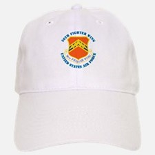 56th Fighter Wing with Text Baseball Baseball Cap