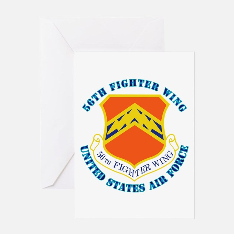 56th Fighter Wing with Text Greeting Card