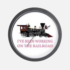 I've Been Working on the Railroad Wall Clock