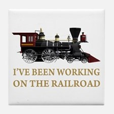 I've Been Working on the Railroad Tile Coaster