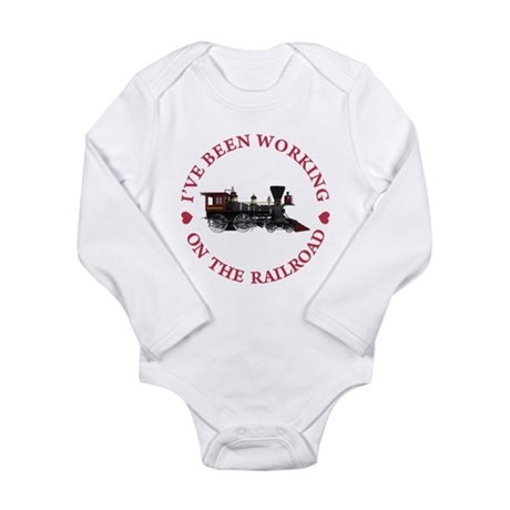 I've Been Working On T Long Sleeve Infant Bodysuit