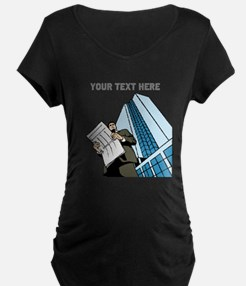City Worker Man. Your Text. T-Shirt