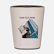 City Worker Man. Your Text. Shot Glass