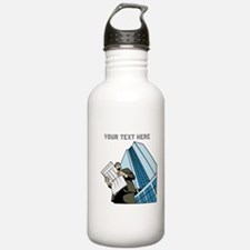 City Worker Man. Your Text. Water Bottle
