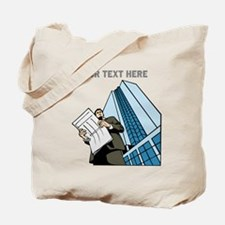 City Worker Man. Your Text. Tote Bag