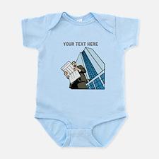 City Worker Man. Your Text. Infant Bodysuit