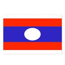 Laos Lao Blank Flag Postcards (Package of 8)