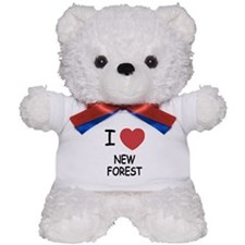 I heart new forest Teddy Bear