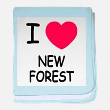 I heart new forest baby blanket