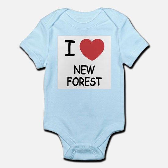 I heart new forest Infant Bodysuit