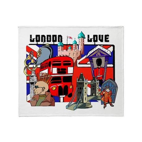 London Love Throw Blanket