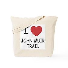 I heart john muir trail Tote Bag