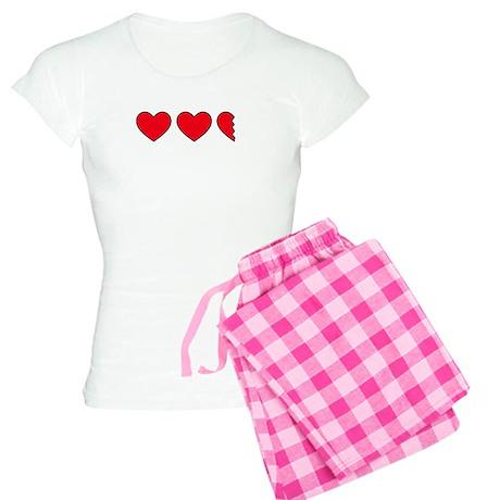 Video Game Hearts Women's Light Pajamas