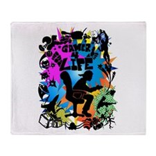 Gamer 4 Life Throw Blanket