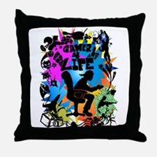 Gamer 4 Life Throw Pillow