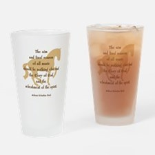 Cute Horse sayings Drinking Glass